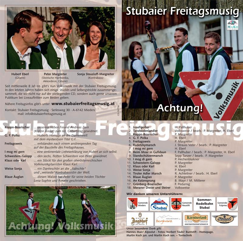 Booklet Achtung! Volksmusik