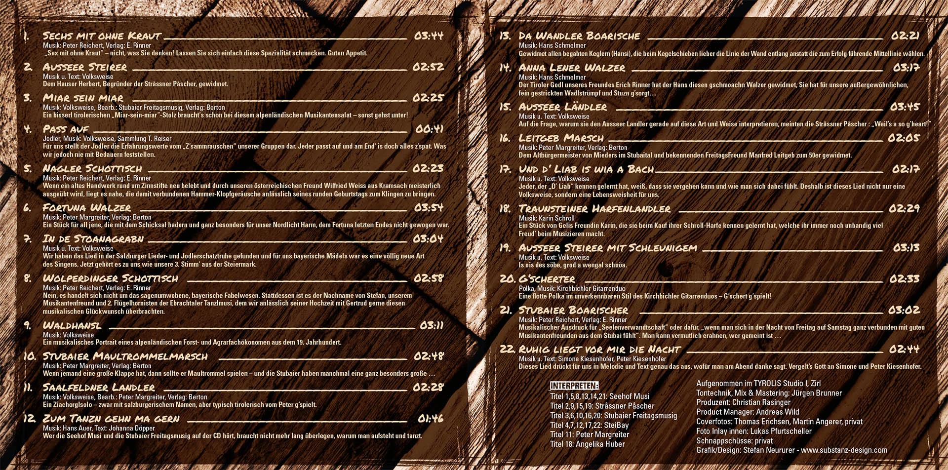 Booklet Z'sammg'rauscht