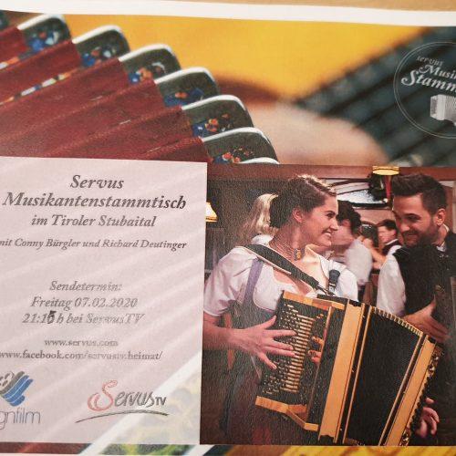 #Servus TV-Musikantenstammtisch #Aufzeichnung & After-Show-Party @Stubaital-2020