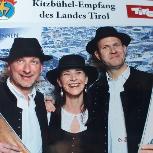#Empfang des Landes Tirol 2020 #Kitzbühel #Hahnenkammrennen